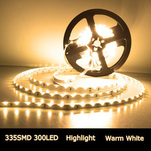 5m 335 Side-emitting 300leds SMD LED strip, 12V flexible 60 led/m LED tape, white/warm white