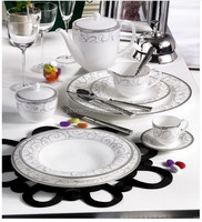 42 PCS coffee dinner set fine bone china