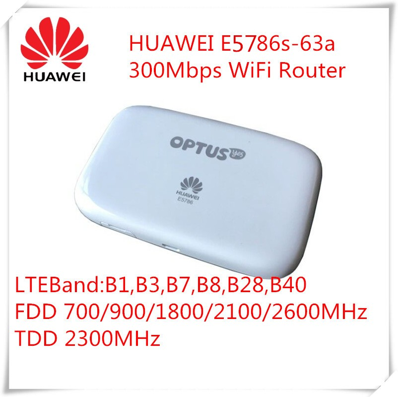 Unlocked New 300Mbps HUAWEI E5786s-63a 4G Wireless WiFi Router and 4G LTE CAT6 Mobile WiFi Router