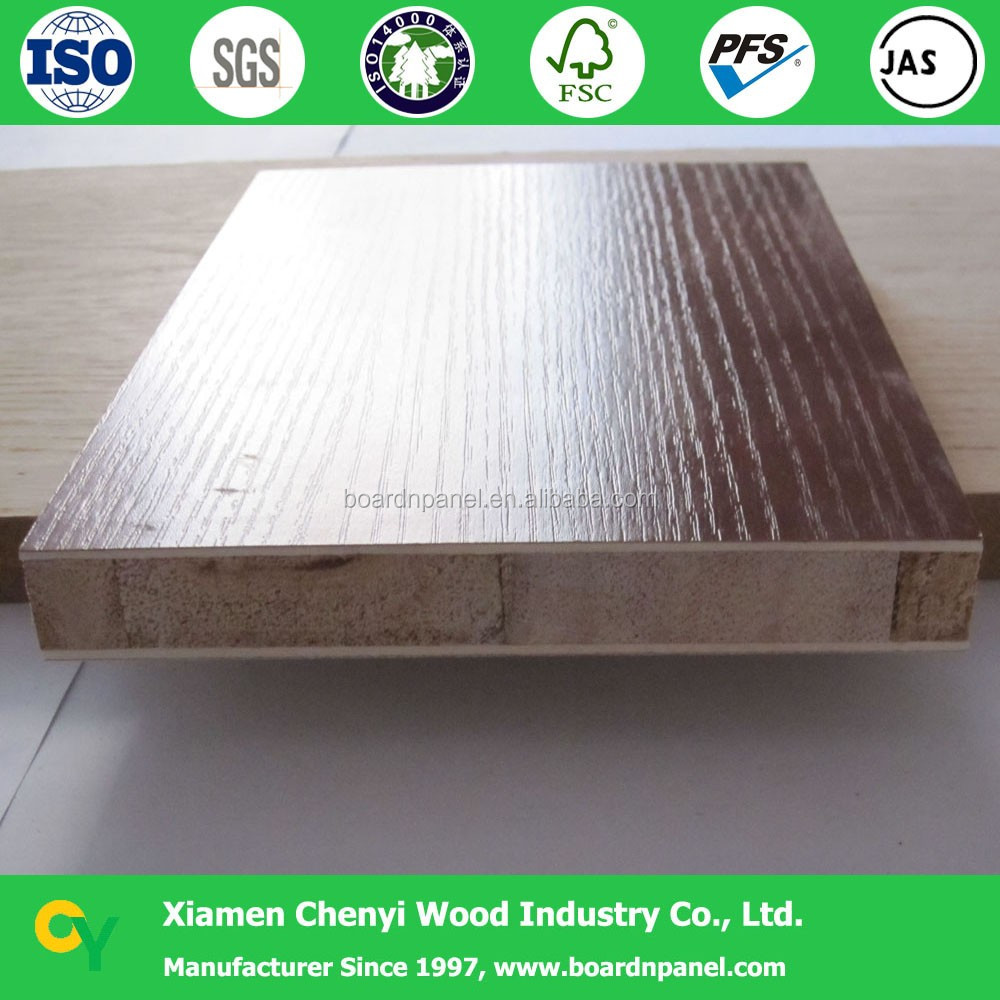 4x8 texture melamine pre laminated wood block board
