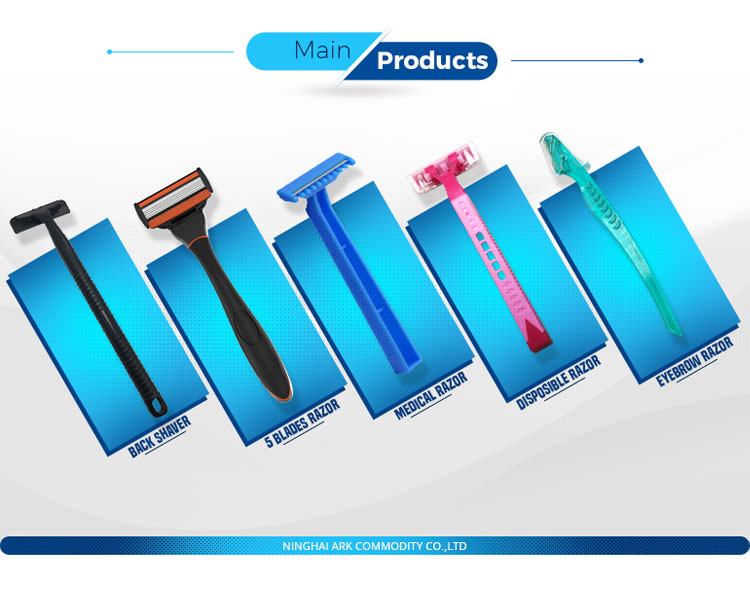 Stainless Steel Single Blade  Disposable Medical Razor