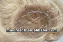 "Top quality 10""613#silk straight LACE+PU chinese virgin hair Man's toupee 7.9*10'' in custom, accept escrow"