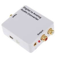 Digital to Analog Audio Converter SPDIF Audio to ip Converter Audio Video Coaxial Toslink RCA L/R Audio Ethernet Converter