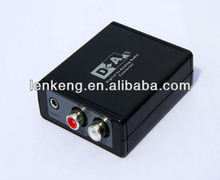 Lenkeng Digital to Analog Audio Adapter professional S/PDIF or TOSLINK digital audio to standard L/R analog audio switching