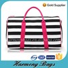 New design Ladies stripe print travel bag