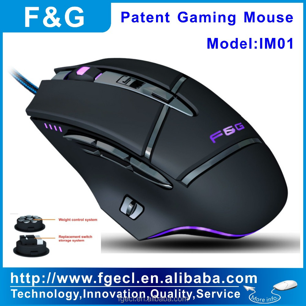 Quick swap switch gaming mouse with software