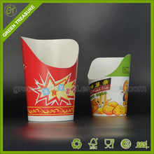 French fries biodegradable cup paper cone potato chip container