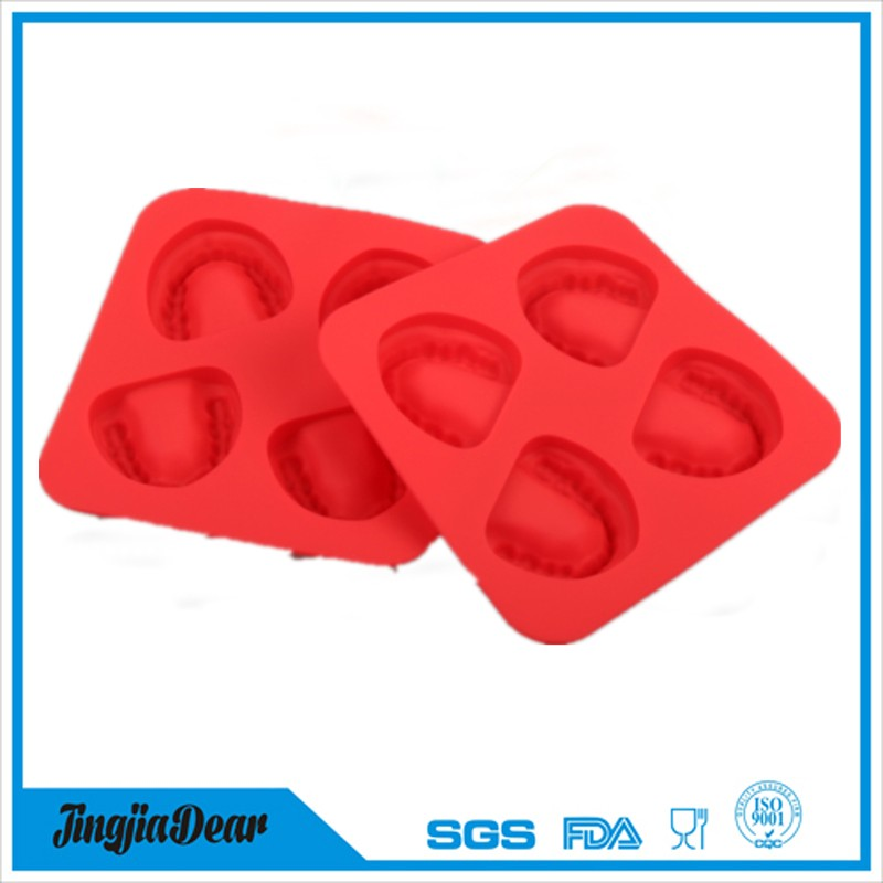 Funny Frozen Denture Ice Cubes Mould Wholesale Silicone Smiles Tooth Ice Cube Tray