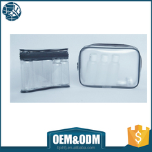 free sample zip lock pvc cosmetic travelling bag