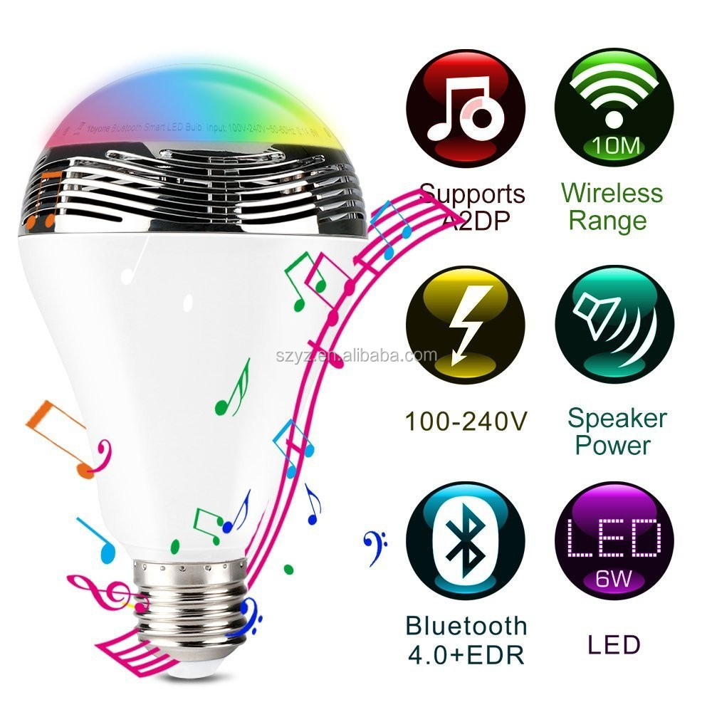 YZ 2016 new design led bluetooth lamp,high quality cheap price blue tooth led,rgb color change led blue tooth bulb