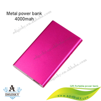Business portable metal case power banks ultra slim huge capacity external mobile phone charger battery