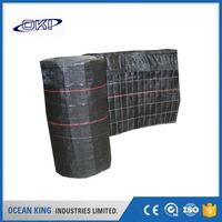 black Good strength pp woven wire backed silt fence fabric fabric