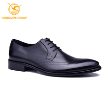Wholesale custom high class 2017 cow skin dress shoes branded fashion italian men's new style dress shoe genuine leather shoes