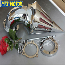 Motorcycle Air Cleaner kits intake filter for Harley Davidson S&S custom CV EVO XL Sportster CHROM Silver Motorcycle Accessories