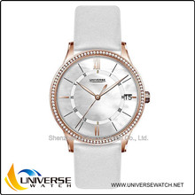 Silm and simple quartz couple lover wrist watch UN5077 for gift