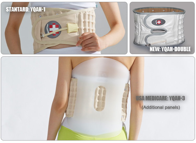 Patented family using pump lumbar back support with CE and FDA