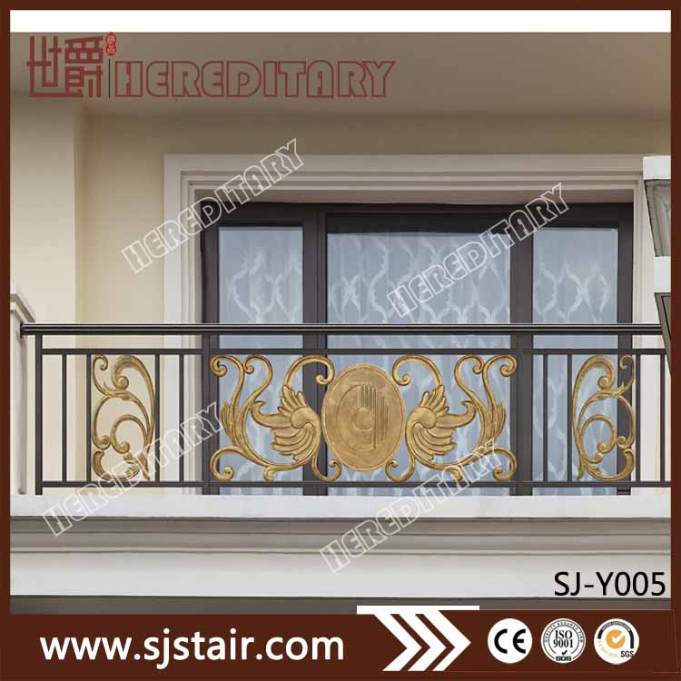 Exterior decoration aluminum balcony fence grill designs for residential house
