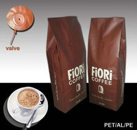 custom foil coffee packaging bags with valve