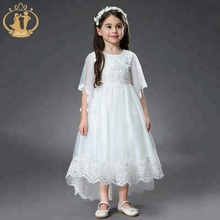 Stock Supply! 2019 Nimble High Quality Boutique <strong>Girl's</strong> Party <strong>Dress</strong> Short Sleeve Ruffle Princess Formal <strong>Dress</strong>