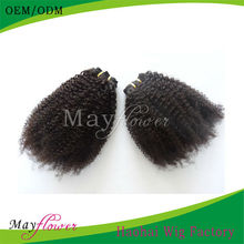 100% virgin remy unprocessed human hair extension virgin no chemical treated can be dyed