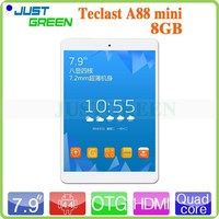 Ultrathin Android4.4 7.9 inch Teclast A88 mini Quad-core 1.0GHz 1GB/8GB support G-sensor/OTG 3500mAh Li-polymer battery tablet