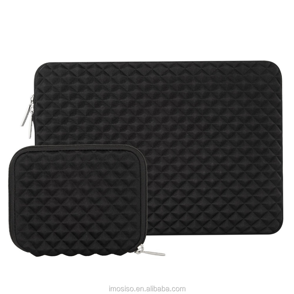 Mosiso Laptop Sleeve, Diamond Foam Water Repellent and Shock Resistant Neoprene Bag for 13-13.3 Inch MacBook Pro/Air