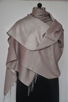 Silk blended with pashmina wool scarf
