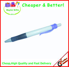 Factory price white barrel promotional plastic logo pen normal ink plastic pens