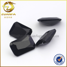 China black cool glass stones, loose synthetic glass gemstones for watches men