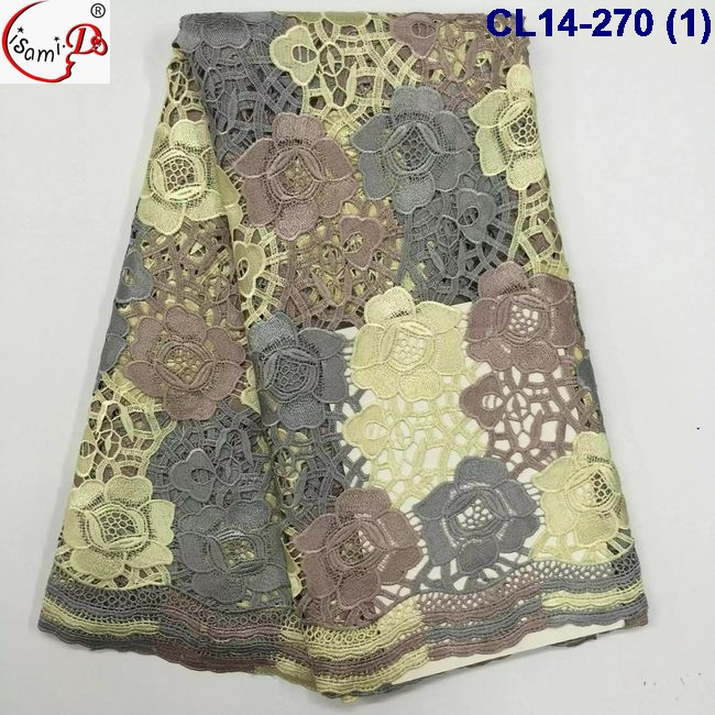 cl14-270 newest arrival Italian design cord lace with rose embroidery with hole hot sale good quality