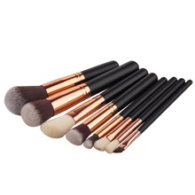 Bona 8pcs/set 2017 Luxury Maquillaje Rose Gold cosmetics brushes set