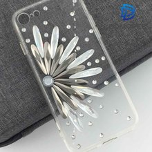 Floral Beautiful ornament Mobile Phone Cover Cases with Diamond