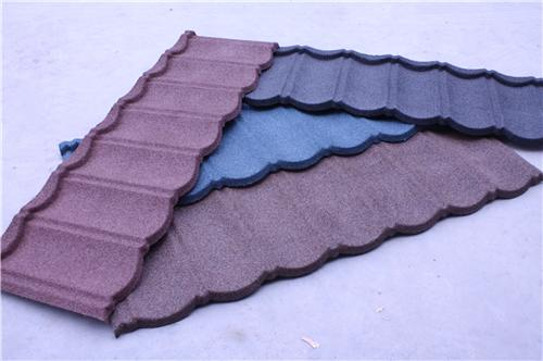 Stone chip coated steel roof tile/colour stone-coated metal roofing tile sheet