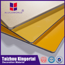 Alucoworld cheap cost building finishing materials excellent in cushion effect unbroken core acm skin care