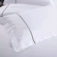 Wholesale cheap custom high quality white cotton hotel pillow case cover
