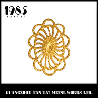Jewelry Wrapping Findings Antique Brass Filigree Flower Focal Components 16*26mm