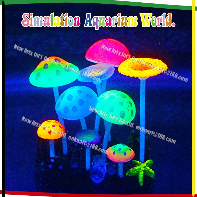 new design aquarium decoration plant artificial silicone Mushrooms for tank aquarium,aquarium accessories from china