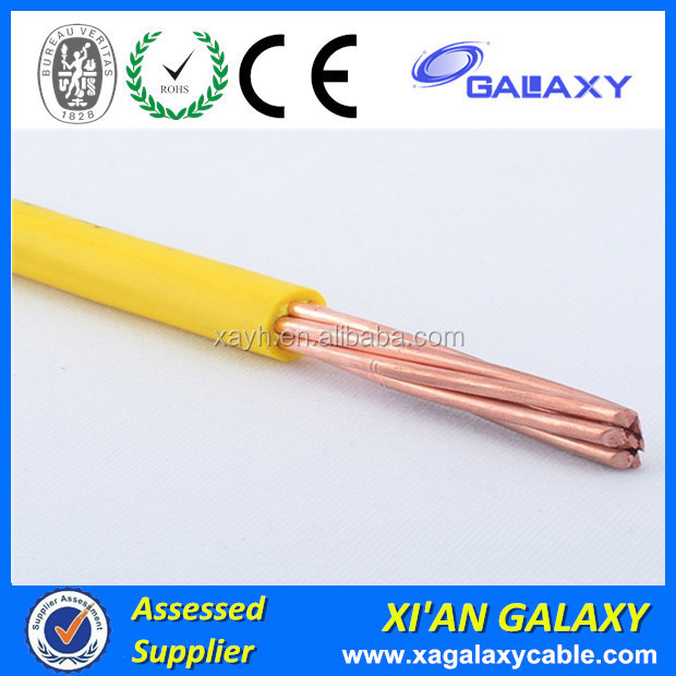 H07V-K type of Single Core PVC Coated Fire Resistance Stranded Flexible Cable Wires 300/500V 70mm 80mm 95mm