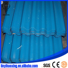Construction corrugated metal roof tile