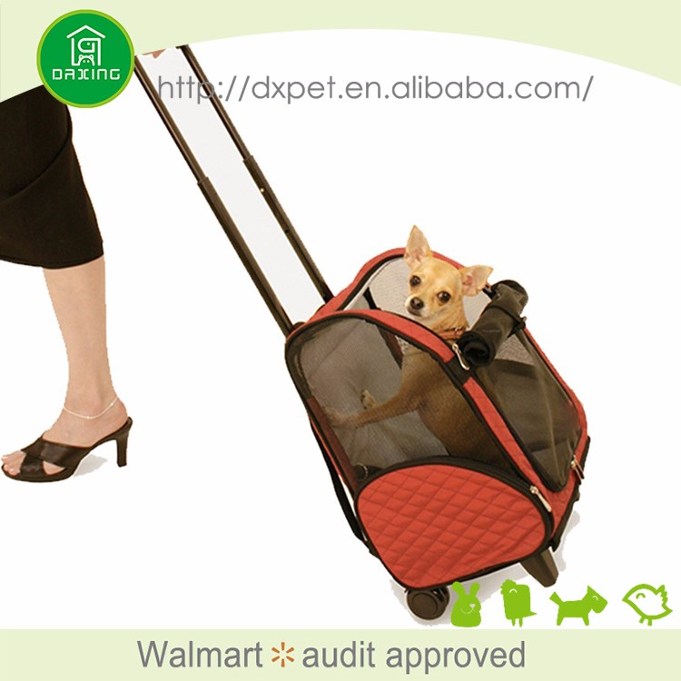 DXPB007 carry on travel sling fashion outdoor dog carrier with wheels