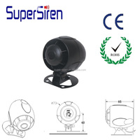 CE ROHS approved car alarm siren 6 tone auto used security alarm car