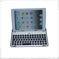 For iPad Mini Metal Bluetooth Keyboard Case Cover
