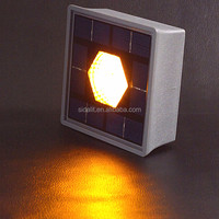 Amber color brightness solar underground light