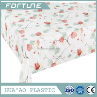 pvc transfer printed film rolls/ table cover/ new flower pattern