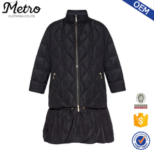 Wholesale Down Feather Filled High Neck Women Winter Warm Coats