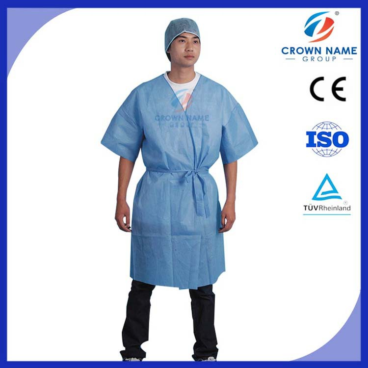 PP or SMS Disposable Hospital Patient Gown