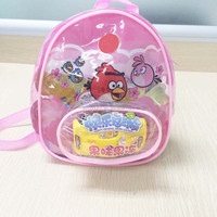 High quality clear pvc plastic recyclable dora backpack jelly bag with zipper