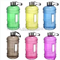 BPA FREE TRITAN /PETG Eco-friendly big volume bottle 2.2L with single handle and iron lid for sport or gym