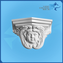 Heatproof Fiberglass Customized White Hand-made Decorative Plaster Corbels