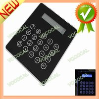 Mousepad Calculator With USB Hub Black